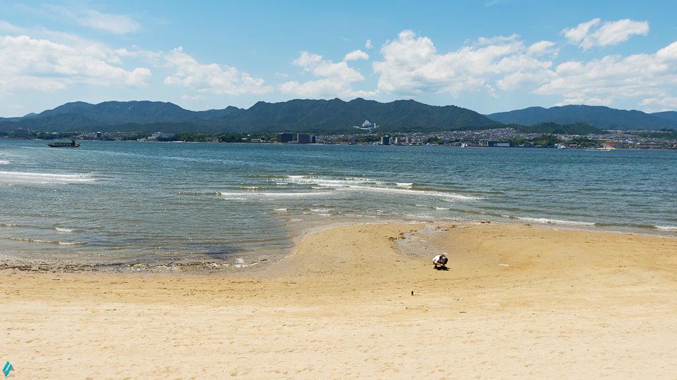 宮島 浜辺